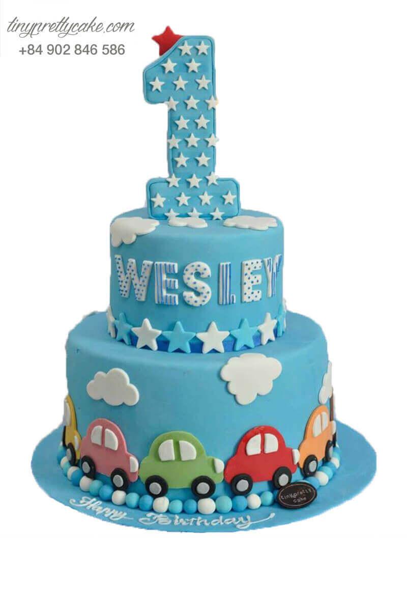 Bánh sinh nhật xe ô tô ấn tượng