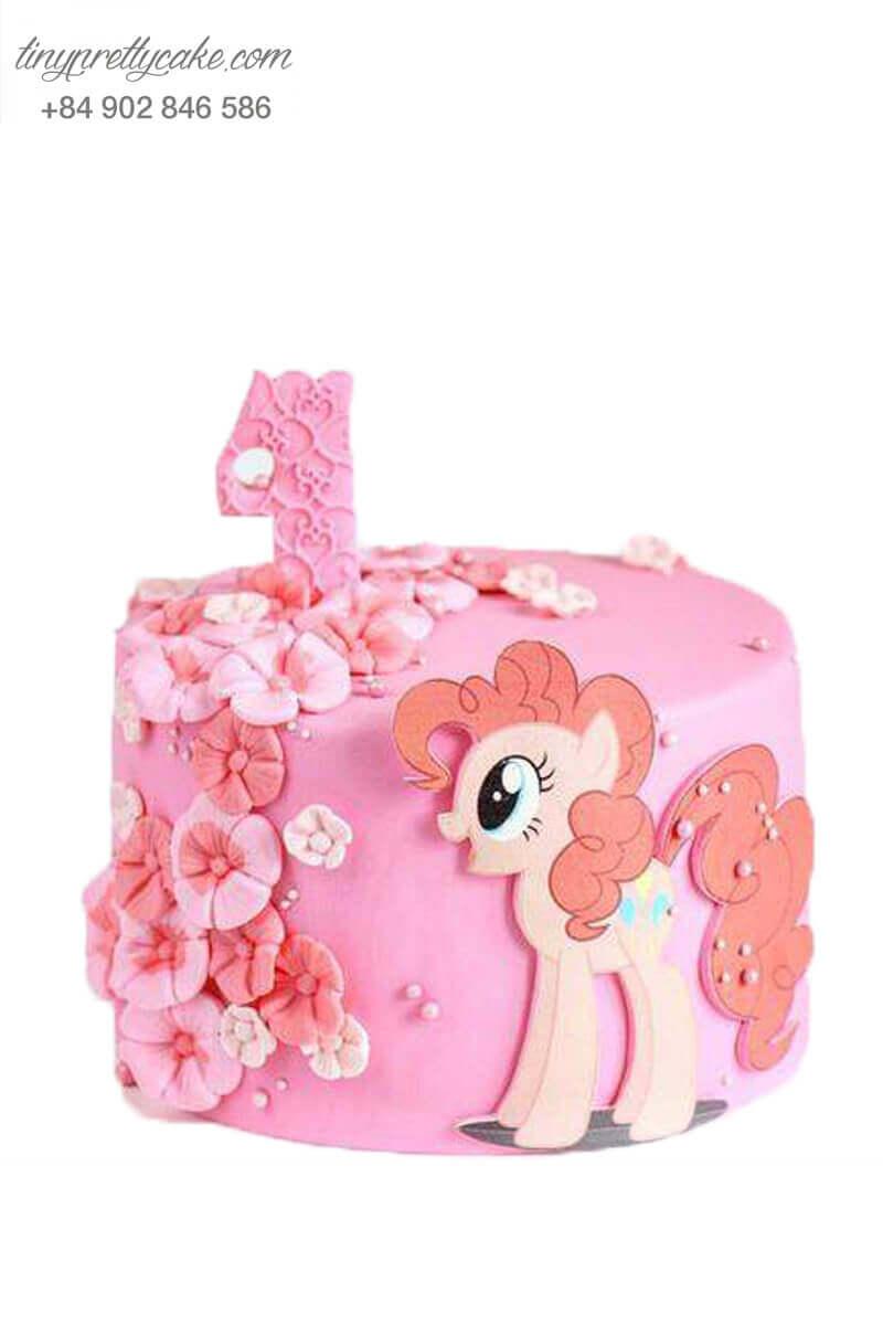 Bánh sinh nhật Unicorn màu hồng