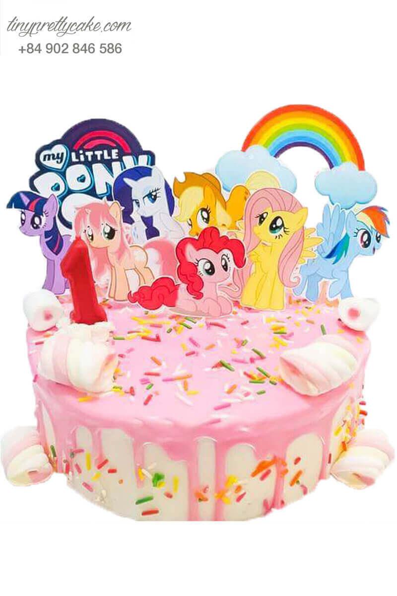Bánh gato ngựa Pony bé nhỏ