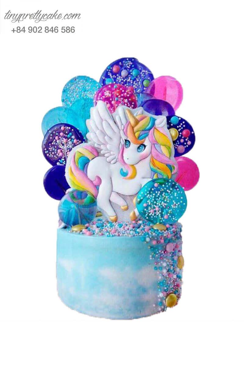 bánh sinh nhật Unicorn rực rỡ