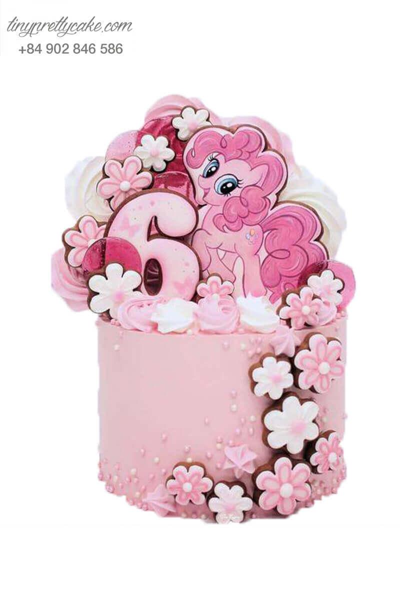 Bánh sinh nhật ngựa Pony và hoa