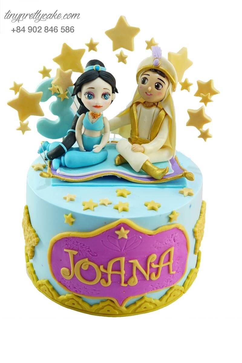 bánh kem Aladdin và công chúa