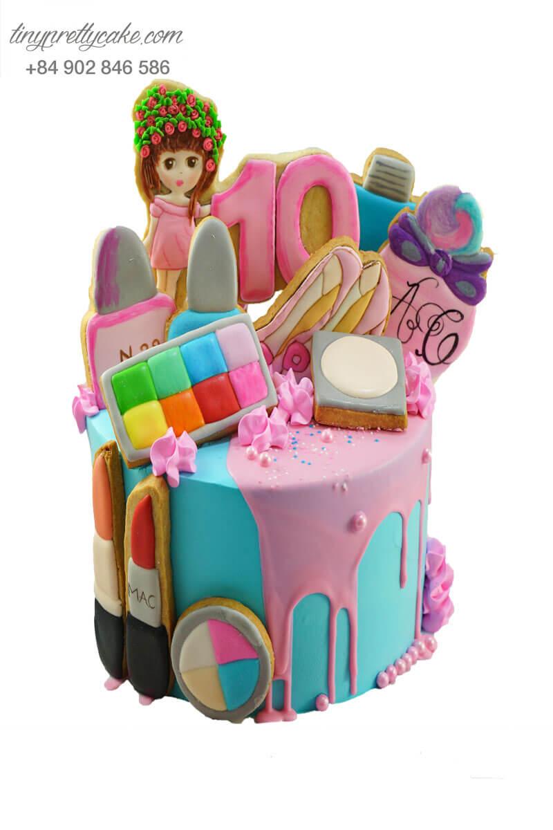 bánh kem cho con gái thích make up