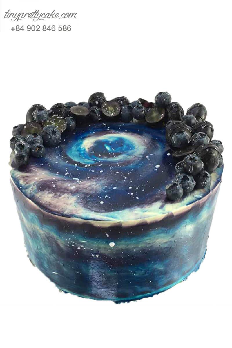 bánh kem hình thiên hà