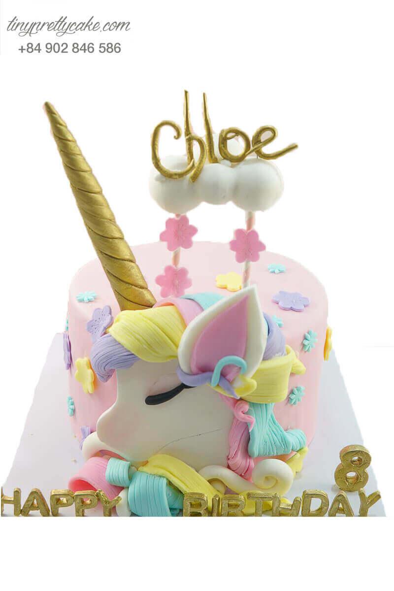 bánh kem unicorn cho bé gái