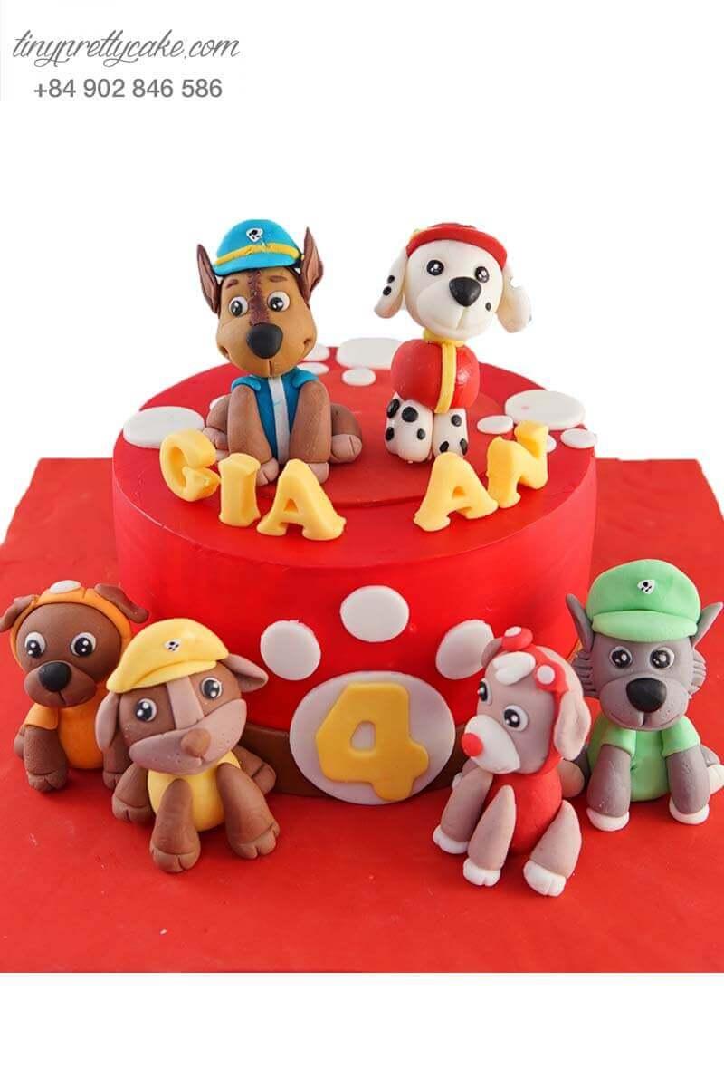 bánh sinh nhật chó cứu hộ