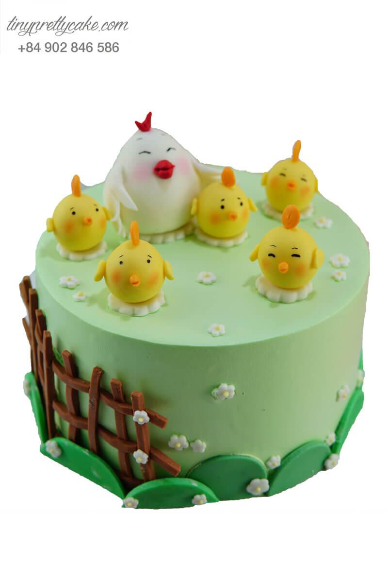 bánh sinh nhật cho bé trai hình đàn gà