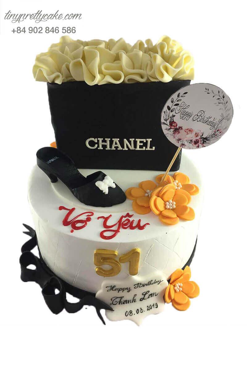 bánh sinh nhật giày chanel