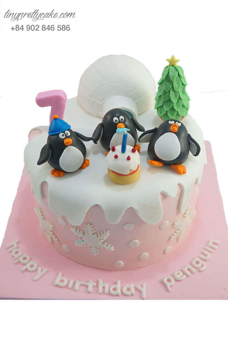 bánh sinh nhật hình chim cánh cụt