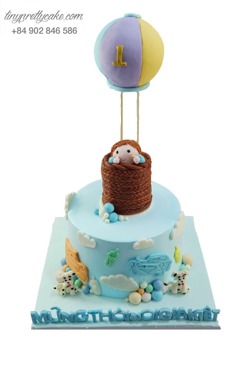 bánh sinh nhật khinh khí cầu