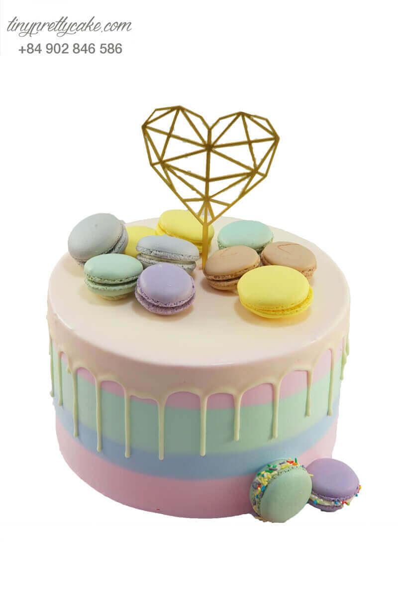 bánh sinh nhật macaron cho nữ