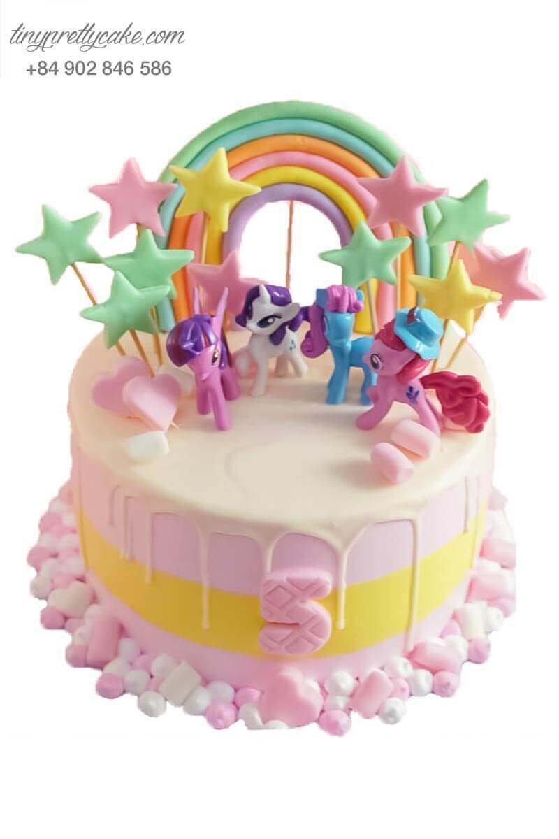 bánh sinh nhật Pony cho bé gái
