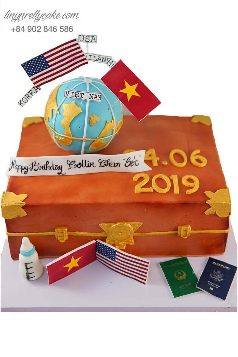 bánh sinh nhật tạo hình quả địa cầu