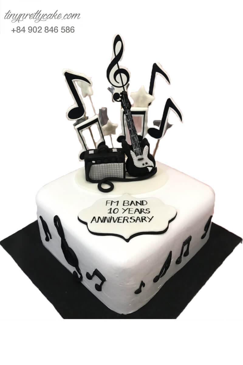 bánh kem kỉ niệm bang nhạc