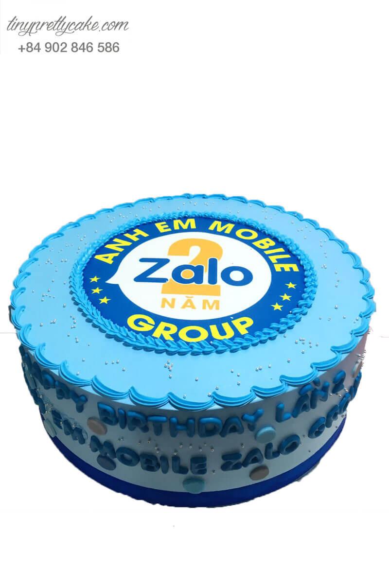 bánh kem kỉ niệm thành lập công ty Zalo