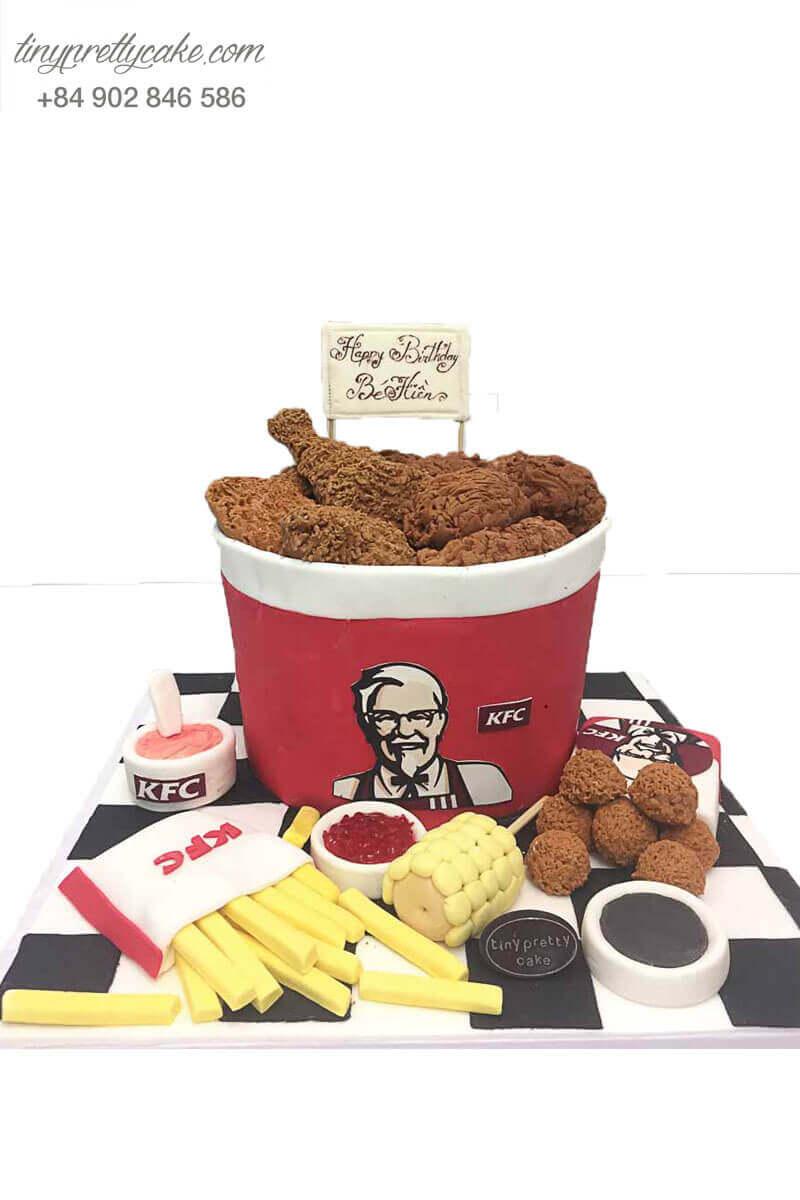 bánh kem tạo hình gà KFC