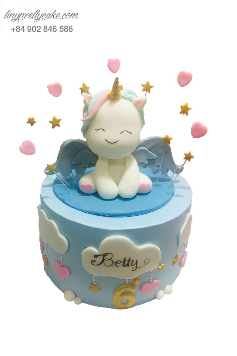 bánh kem thiên thần unicorn