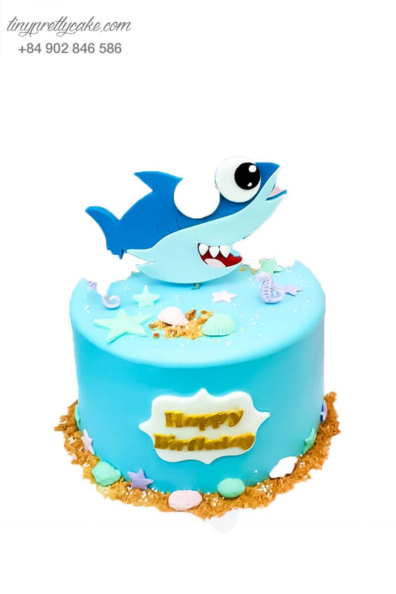 bánh kem trang trí hình cá mập