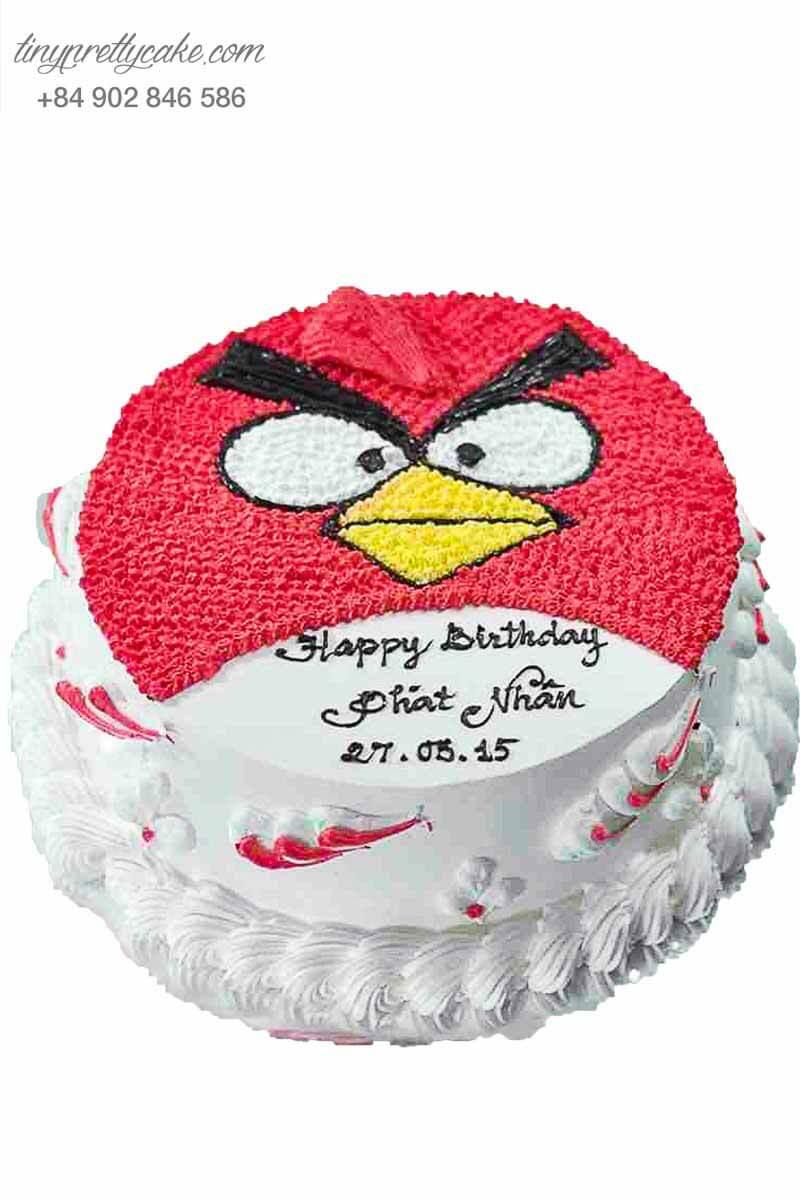 bánh kem vẽ hình angry bird