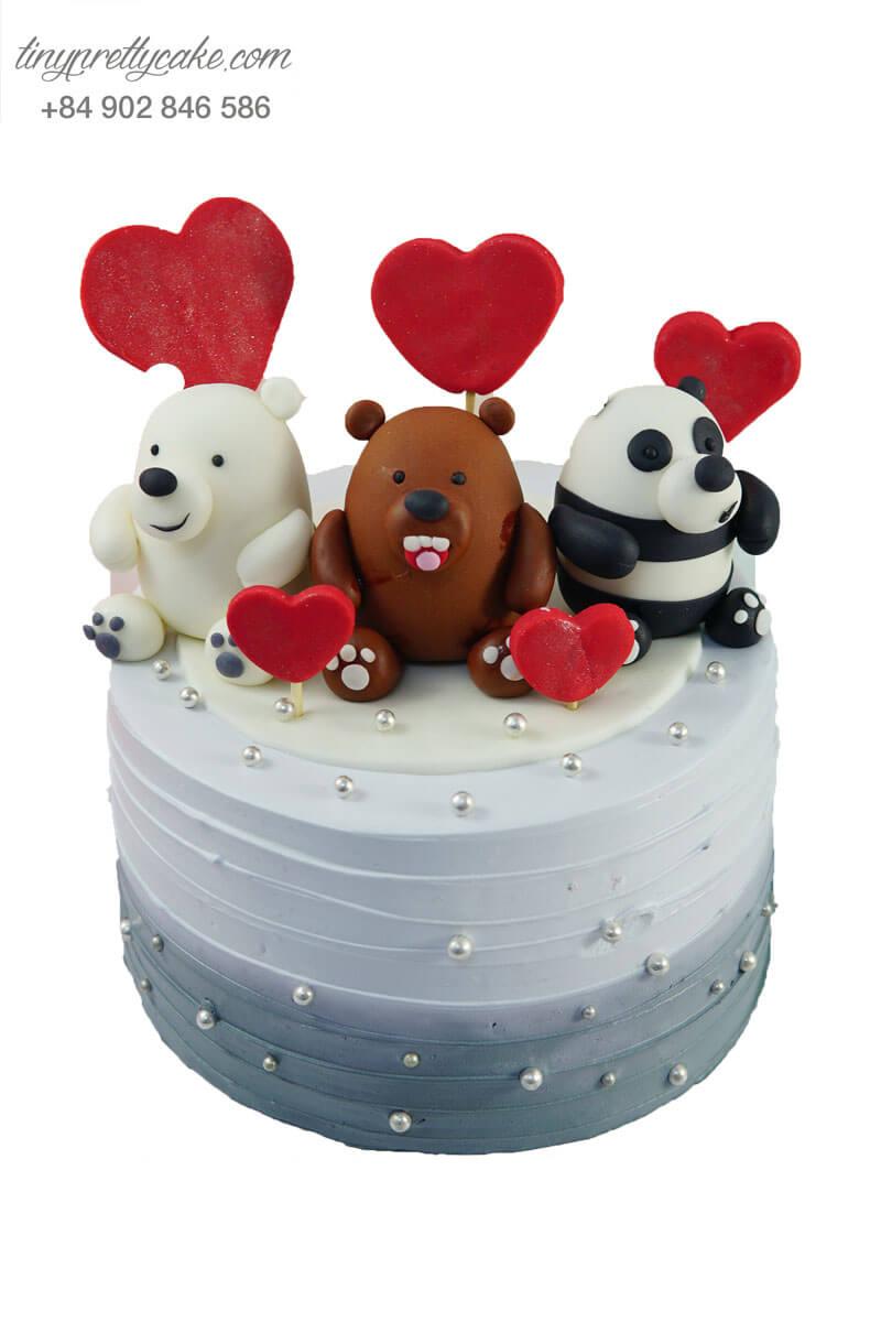 bánh sinh nhật 3 chú gấu