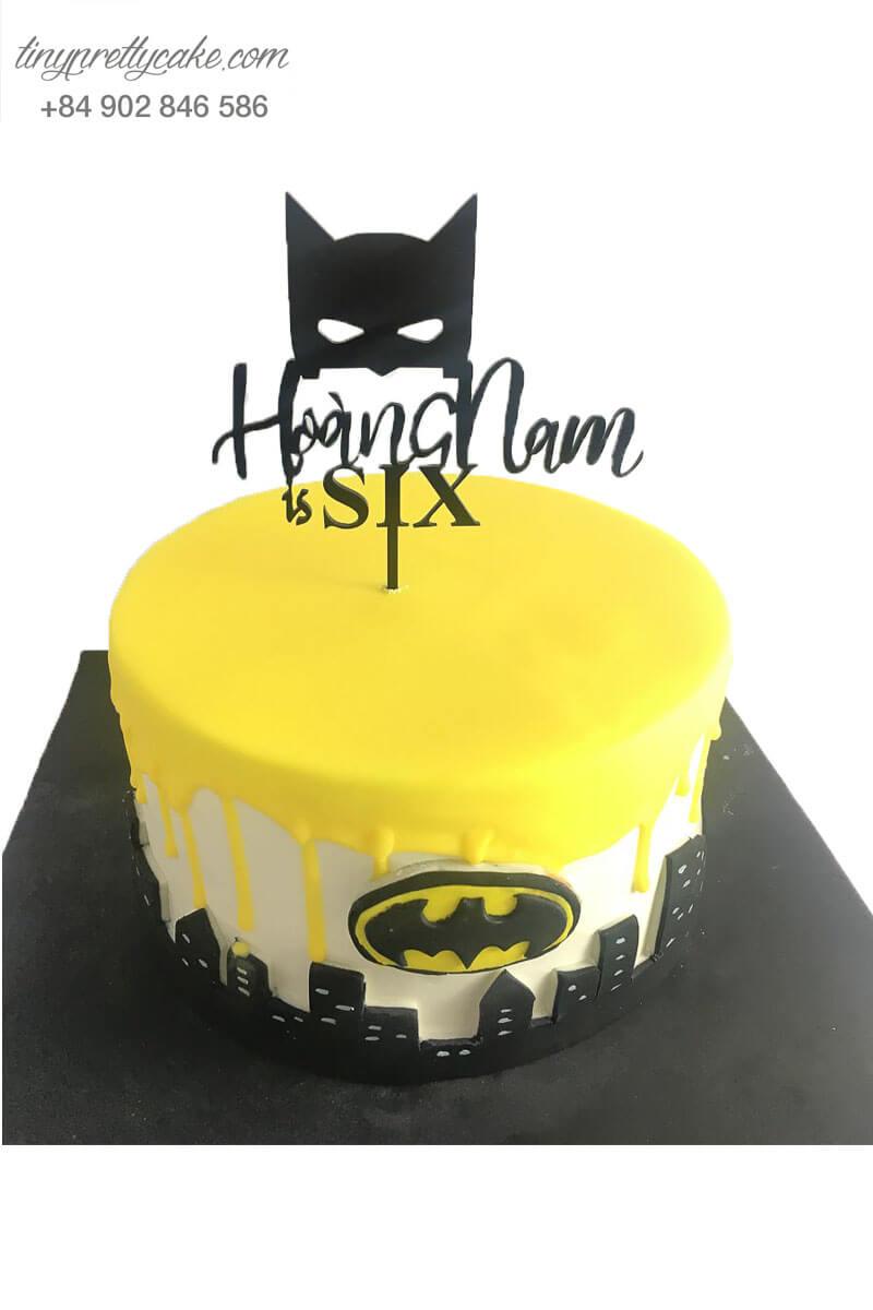 bánh sinh nhật batman cho bé trai