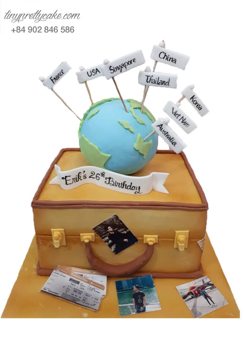 bánh sinh nhật cho người yêu du lịch