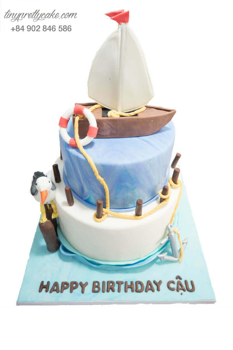 bánh sinh nhật hình chiếc thuyền