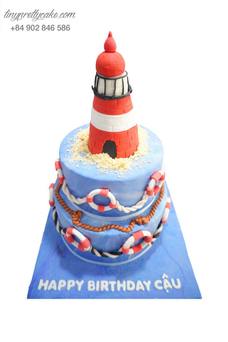 bánh sinh nhật hình hải đăng