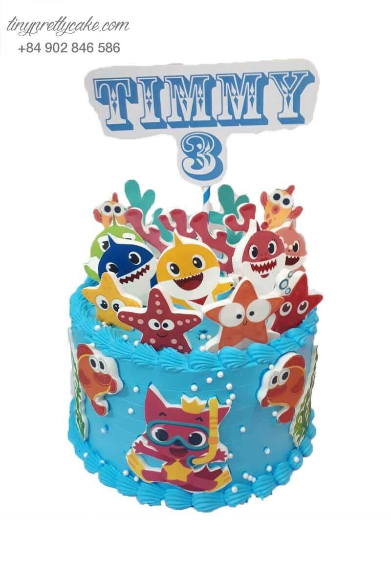 bánh sinh nhật hình những chú cá vui nhộn