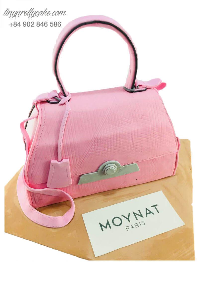 bánh sinh nhật tạo hình túi xách hồng