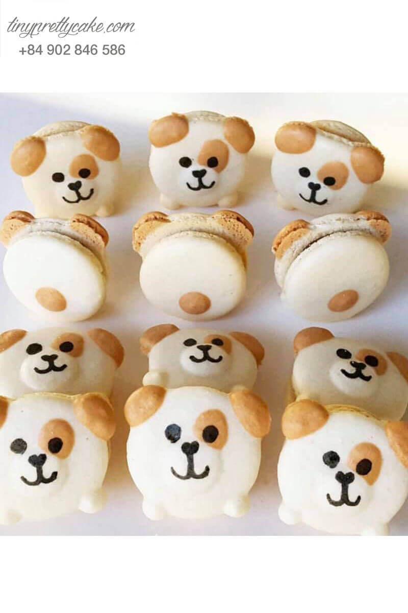 macaron hình chú chó