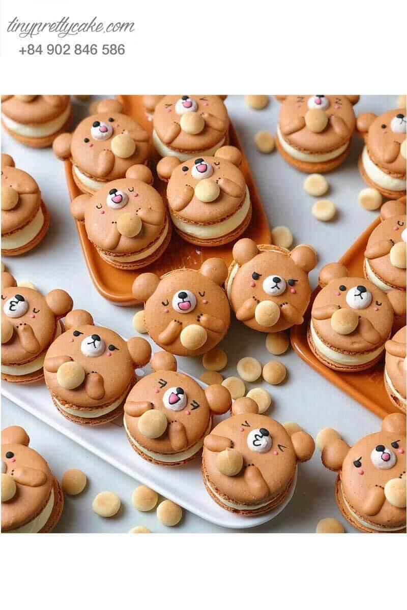 macaron con gấu cho bé