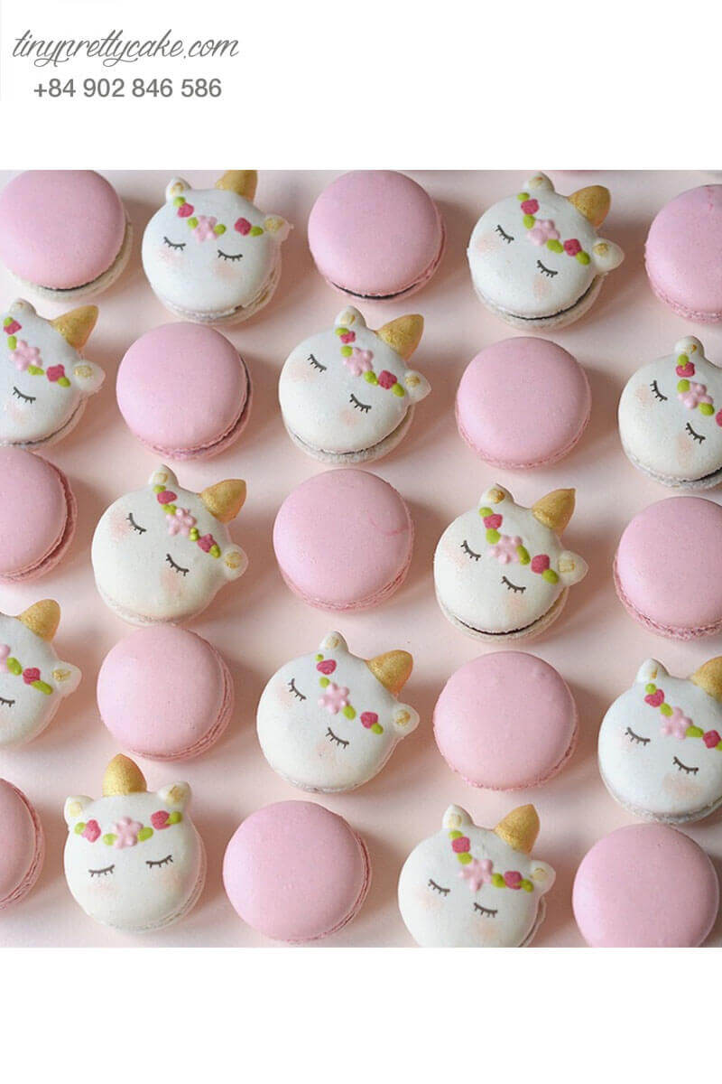 macaron unicorn cho bé gái