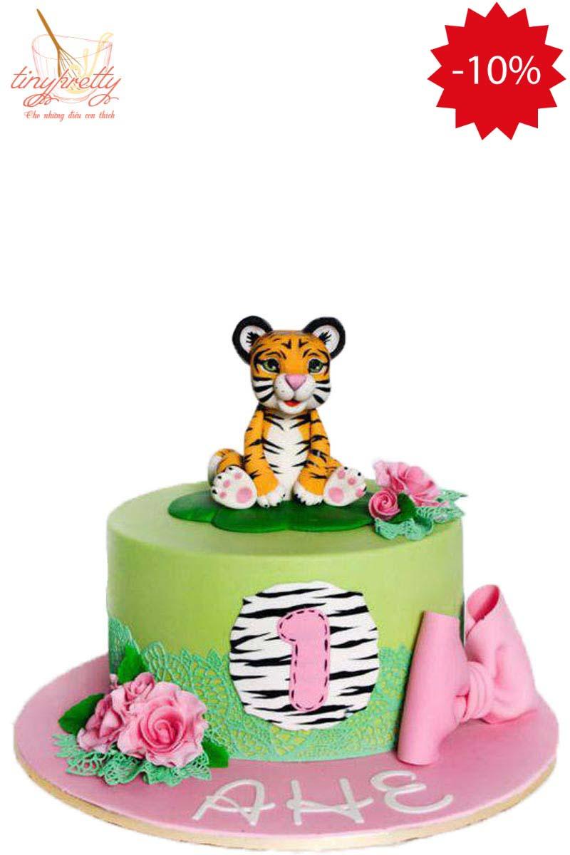 bánh kem thôi nôi hình con hổ