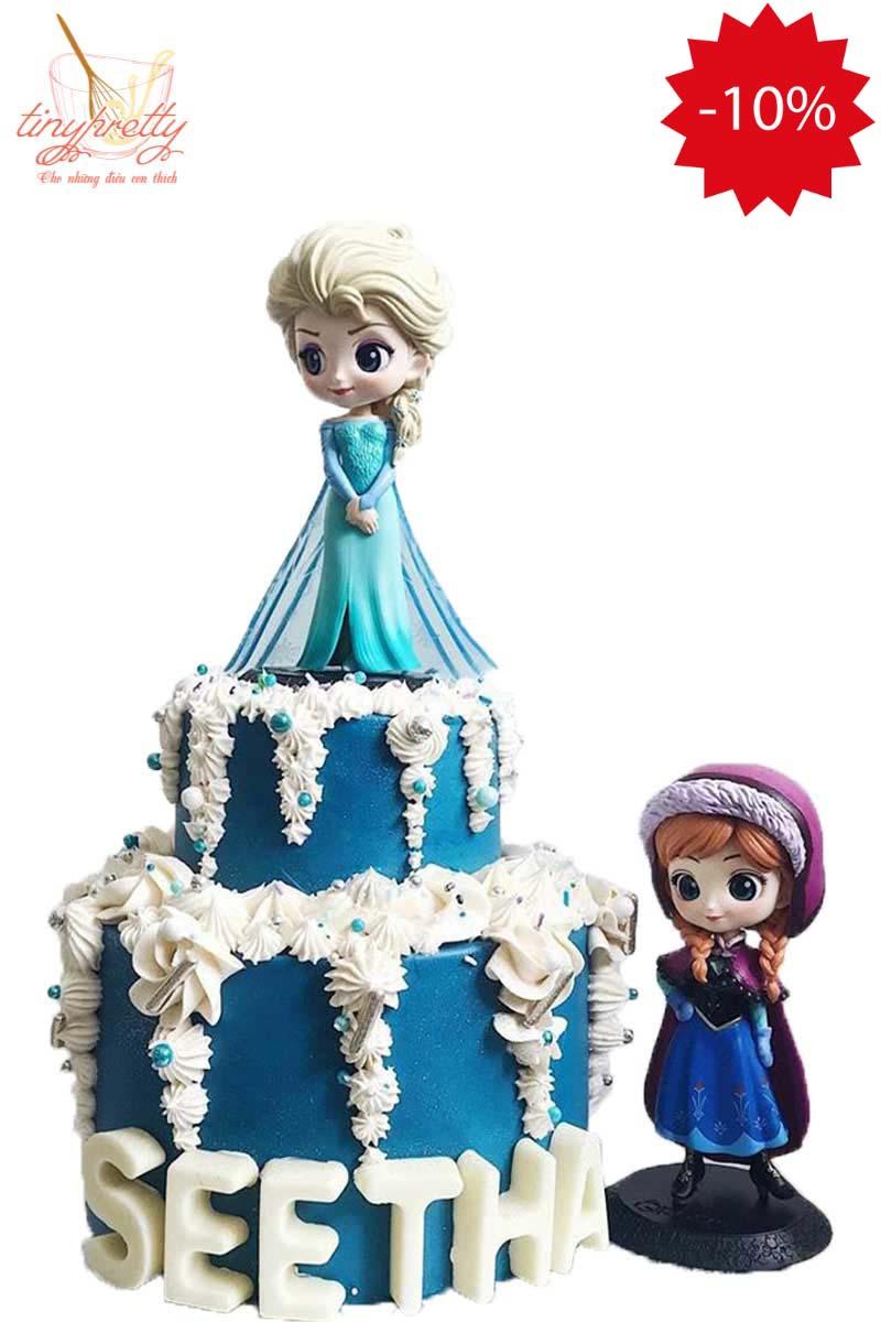bánh kem công chúa Elsa dễ thương