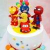 bánh sinh nhật siêu nhân cho bé trai