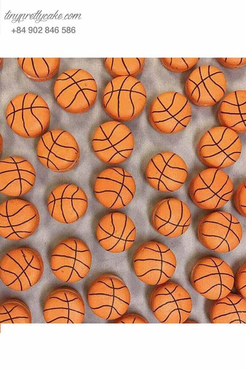 macaron hình bóng rổ cho bé trai