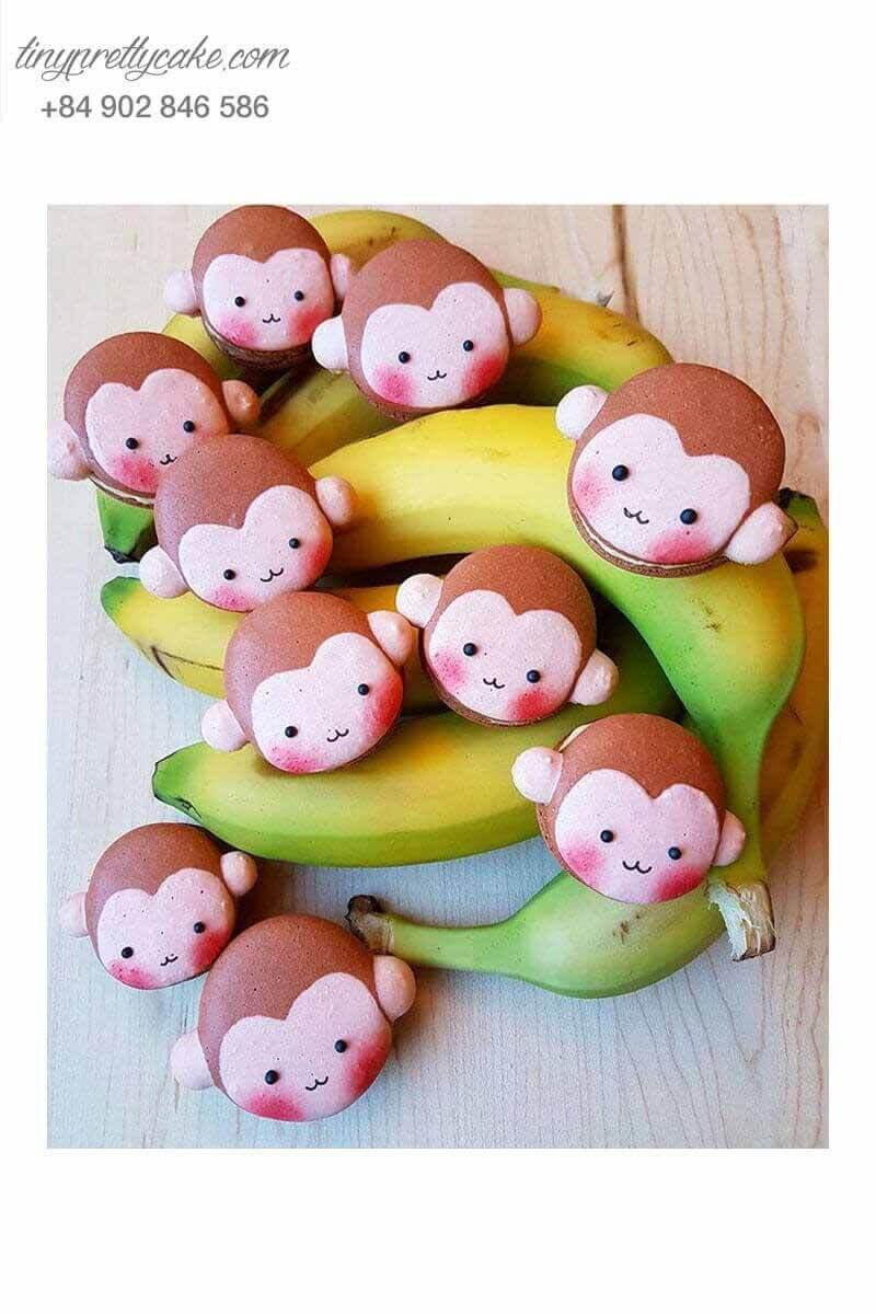 macaron hình con khỉ