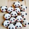 macaron hình gấu panda