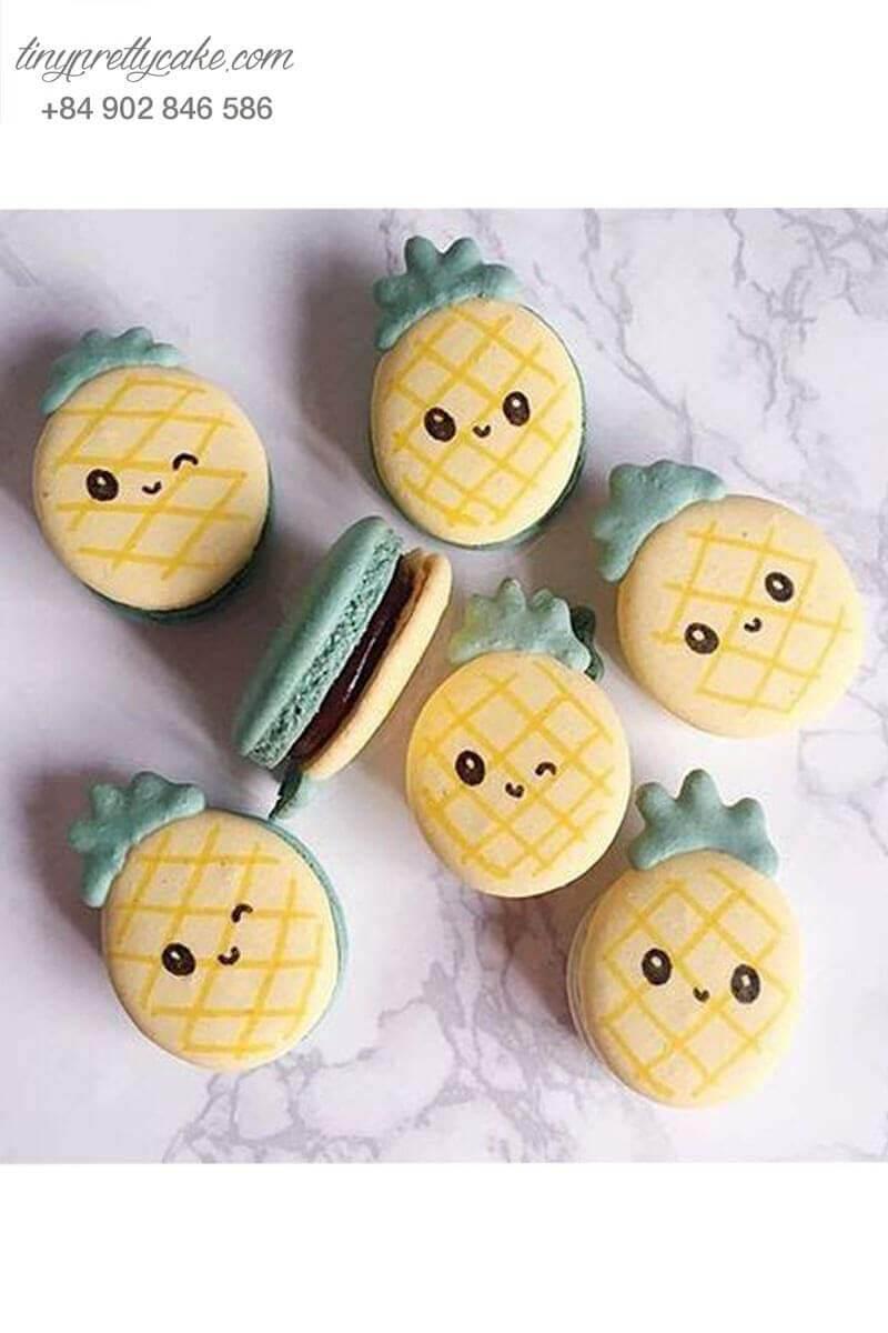 macaron hình trái thơm