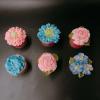 6 cupcake hoa kem bơ size lớn