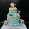 Bánh fondant 2 tầng tuổi khỉ