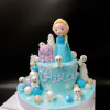 Bánh fondant chủ đề Elsa cho bé gái