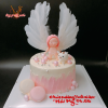 Bánh kem bơ sinh nhật đơn giản cho bé gái