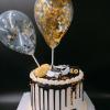 Bánh kem bơ xe hơi đơn giản sang trọng cho nam sinh nhật