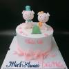 Bánh kem sữa chủ đề heo cho bé sinh đôi ngày sinh nhật
