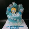 Bánh sinh nhật chủ đề Elsa cho bé gái kem bơ