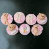 Set 7 cupcake chủ đề thôi nôi cho bé gái
