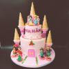 Bánh fondant 2 tầng công chúa cho bé gái