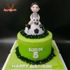 Bánh fondant chủ đề bóng đá cho bé trai cho sinh nhật